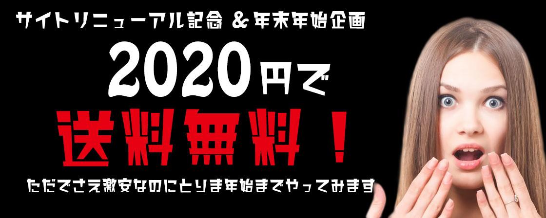 2020円で送料無料セール
